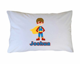 Personalized Superhero Pillow Case