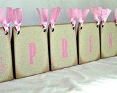 Princess centerpiece, vintage inspired, princess sign, tiara tented party decor, pink baby shower, birthday party sign on brown chip board