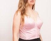 1950 Pink bullet bra long line bra bombshell dead stock Vintage