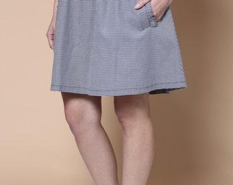 Sale, Gingham skirt, Mini skirt, black and white skirt,  Womens skirt, High waist skirt, A line skirt, Classic skirt, Short skirt