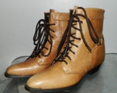 vintage 80s granny boots size 6.5 steampunk