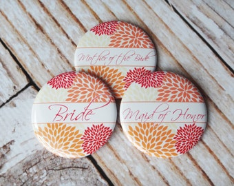 Pocket Mirrors Personalized For You Great Bridesmaids Gifts- Fall Poms