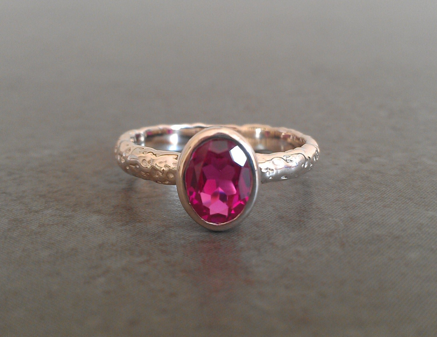 rustic moonrock oval ruby ring lab created ruby sterling. Black Bedroom Furniture Sets. Home Design Ideas