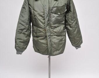 vintage jacket work wear 1960s hot rod mechanic coat medium