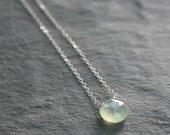 Prehnite and Silver Simplicity Necklace