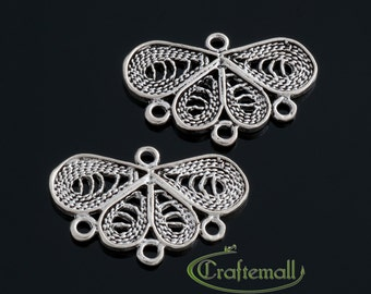 2 Sterling Silver Chandelier Earring Components - bcfc015