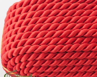 Twisted cord - 5mm - red (A7501) - 1 meter