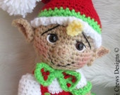 Crochet Pattern Cute Elf by Teri Crews Wool and Whims Instant Download PDF Format