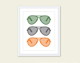 Aviator Sunglasses Print - Ray Ban Sunglasses Print - Sunglasses Wall Art