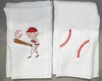 Baseball burp cloth baby boy burp cloth personalized burp cloth baby boy baseball