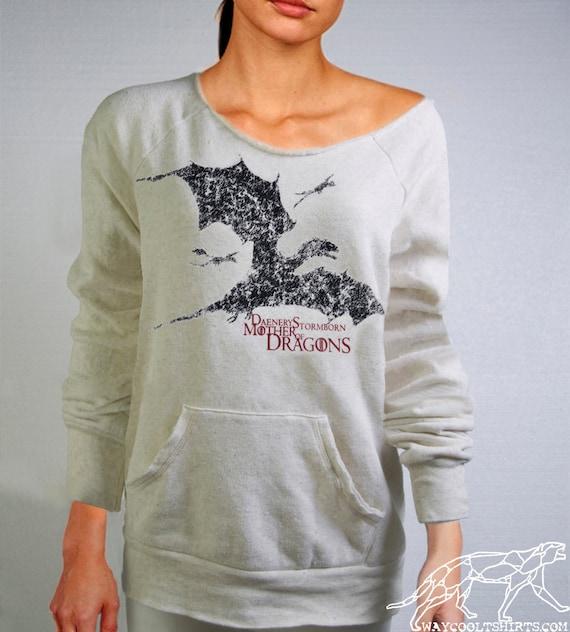 MOTHER Of Dragons Maniac Sweatshirt. Daenerys Stormborn Targaryen Khaleesi, Game of Thrones. Alternate Apparel--MEDIUM ONLY