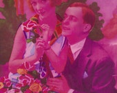 Everything's Just Rosy! Couples Romance Fantaisie by Fotocelere of Paris, circa 1920s