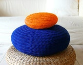 Floor Cushion Crochet -  blue