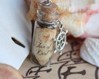 Jar of Dirt Vial Pirates of the Caribbean Necklace