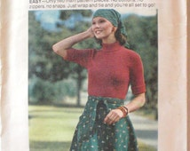 Vintage Sewing Pattern - Wrap and Go Skirt - Butterick 3768 - Size Small, Waist 24 - 25 Uncut