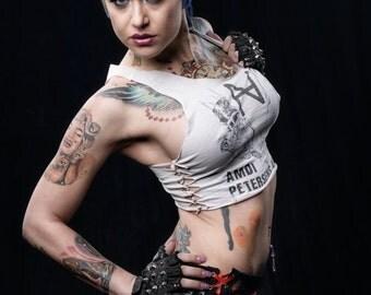 Lace-up Punk Rock Skirt