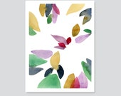 Autumn series print Abstract watercolor print Watercolor Painting  A3 colorful home decor