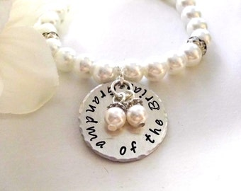 Grandma of the Bride Pearl Bracelet, Pearl Bracelet, Bridal Bracelet, Grandma of the Bride
