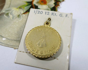 Vintage Bridesmaid 12K Gold Filled Charm, Wedding, To My Bridesmaid, Thank You Gift