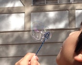 Custom Bubble Wand - Be Happy Blow Bubbles - Choose Your Colors - 100% Handmade in USA