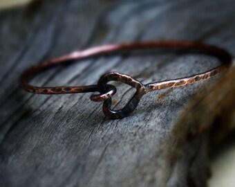 Copper Bangles, Arthritis Copper Bracelet, Copper Jewelry, Open bangle, Unique Bohemian Bangle, Copper tendonitis Bangle, Open Copper Bangle