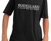 Big Brother Bodyguard custom personalized child's tee shirt - big cousin, new little brother, great pregnancy annoucement
