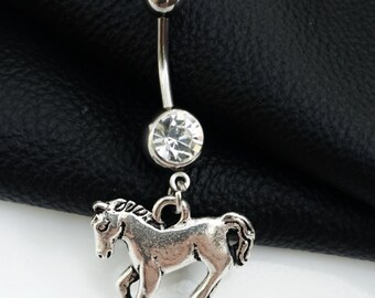 Horse Belly Button Ring Naval Piercing Body Jewelry Trending Jewelry Horse Jewelry Country Girls Gifts Cowgirl Sale Jewelry