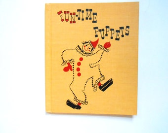 Fun-Time Puppets, a Vintage Children's Book, 1952