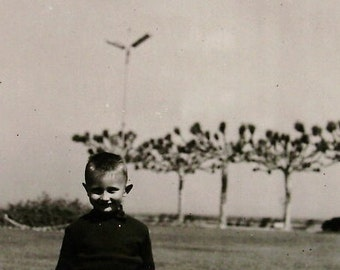 Vintage 1950's Photo - Young Boy