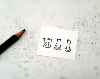 The Chemistry Lab Science Rubber Stamp