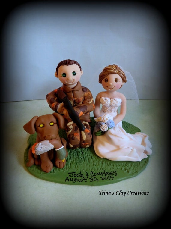 duck hunting wedding cake toppers wedding cake topper duck and groom with one 13777