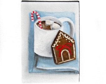 Christmas Painting - Christmas Art - Coffee Art - Coffee Painting - Christmas - Seasonal Decor - Coffee Decor - Christmas Decor