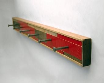 Coat Rack 6 Hook Reclaimed Wood (Made to Order)
