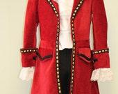 Captain Hook Pirate Costume - Custom Made Mens Sizes
