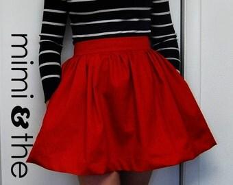 Skirt Womens Vintage Inspired High Waist Skirt Made to Order