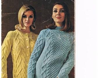 Vintage Villawool Knitting Book 135 - Ladies Designs