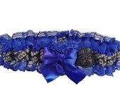Star Wars Something Blue Wedding Garter with Darth Vader Charm Royal or Light Blue Lace Options