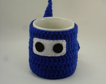 Ninja Mug Cozy & Coaster BLUE