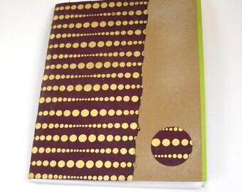 Handmade Notebook, Tribal Notebook, Small Notebook, Softcover Notebook, Kraft Notebook