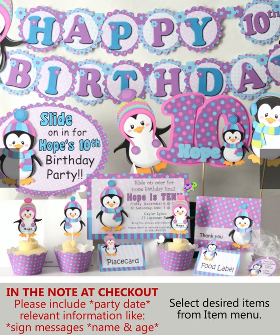 penguin birthday party supplies or penguin baby shower decorations, Baby shower invitation