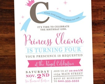 Princess invitations - set of 15