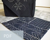 PDF sashiko pattern - - simple sampler - - modern embroidery