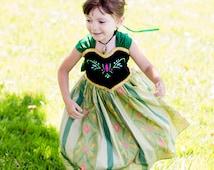 Princess Anna Coronation Dress - Frozen Princess Anna Costume - Princess Anna Dress - Frozen Costume - Disney dress girls 1 2 3 4 5 6 7 8