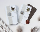 24 Scratch Off Cards for a Baby Shower, Birthday Game or Halloween Party // Owl or Woodland Creatures Theme