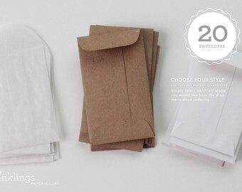 20 Envelopes // Lunchbox Notes add-on // Choose your style