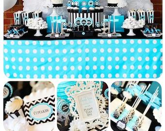 Graduation Party Printable | Graduation Party Decorations | High School Graduation | Monogram Party | Chevron Party | Amanda's Parties To Go