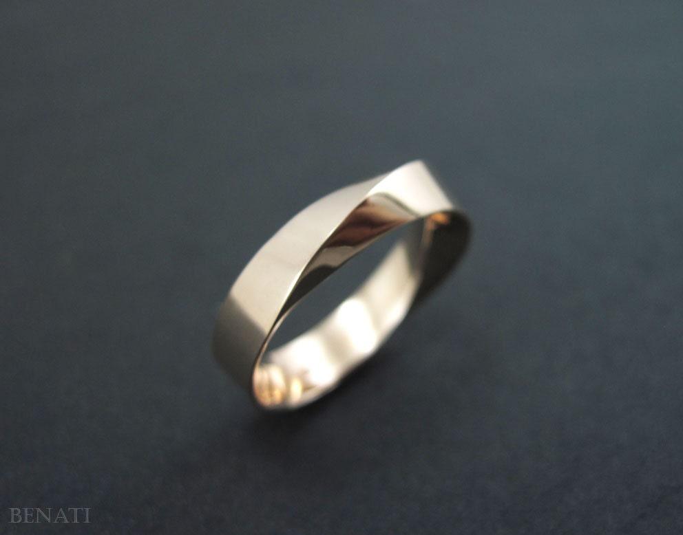 mobius wedding ring 6mm wide mobius wedding band mobius by
