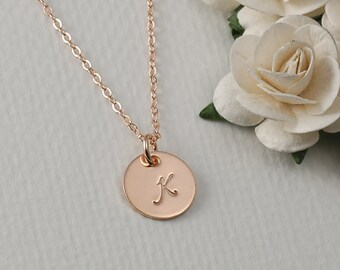 Hand stamped jewelry three tiny personalized by for Rose gold personalized jewelry