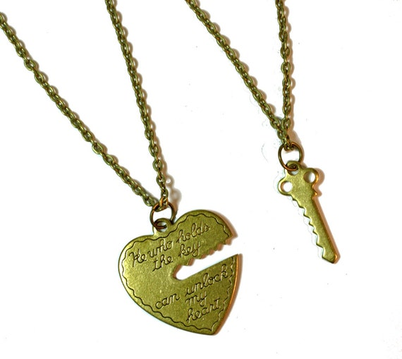 items similar to his and hers necklaces matching heart