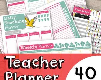 Teacher Planner Printable - Academic Planner Download - Teacher Planner - Gift for Teacher - Instant Teacher Printable - School Planner